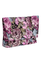 Jacquard-weave clutch bag - Black/Floral - Ladies | H&M CN 3